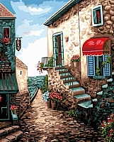 Картина по номерам Truehearted Приморский городок (HB4050269) -