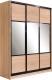 Шкаф Евва 18 SSG.01 / АЭП ШК.3 03 (сонома/венге глянец) -