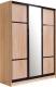 Шкаф Евва 18 SSG.02 / АЭП ШК.3 03 (сонома/венге глянец) -