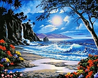 Картина по номерам Truehearted Лунное побережье (HB4050323) -
