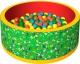 Игровой сухой бассейн Romana Веселая полянка ДМФ-МК-02.51.01 (зеленый/красный) -