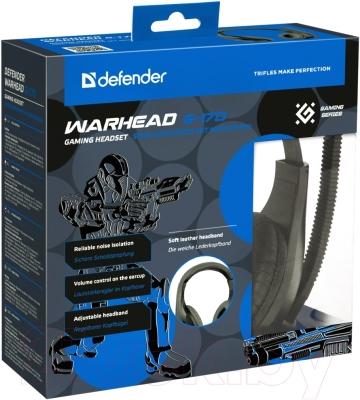Наушники-гарнитура Defender Warhead G-170 / 64114 (черный)