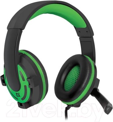 Наушники-гарнитура Defender Warhead G-300 / 64128 (зеленый)