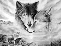 Набор алмазной вышивки Гранни Волчья любовь (Ag 410) -