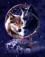 Набор алмазной вышивки Гранни Ночные волки (Ag 648) -