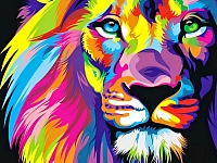 Набор алмазной вышивки Гранни Радужный лев (Ag 444) -