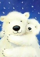 Набор алмазной вышивки Гранни Белые медведи (Ag 034) -