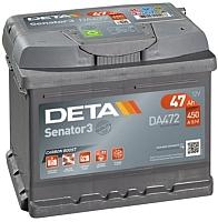 Автомобильный аккумулятор Deta Senator3 DA 472 (47 А/ч) -