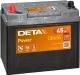 Автомобильный аккумулятор Deta Power DB455 (45 А/ч) -