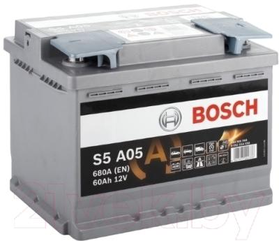 Автомобильный аккумулятор Bosch S5 AGM 005 560901068 / 0092S5A050 (60 А/ч)