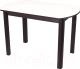 Обеденный стол Домотека Альфа ПО 04 КМ(6) (белый/венге) -