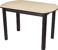 Обеденный стол Домотека Альфа ПО КМ(6) (бежевый/венге) -
