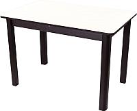 Обеденный стол Домотека Альфа ПР 04 КМ(6) (белый/венге) -