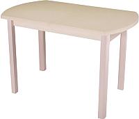 Обеденный стол Домотека Альфа ПО 04 КМ(6) (бежевый/дуб молочный) -