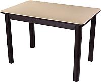 Обеденный стол Домотека Альфа ПР 04 КМ(6) (бежевый/венге) -