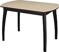 Обеденный стол Домотека Реал ПО КМ (бежевый/венге) -