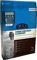 Корм для собак Acana Heritage Cobb Chicken & Greens (17кг) -