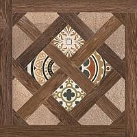 Декоративная  плитка для пола Opoczno Elbert House коричн. (430x430) -