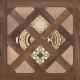 Декоративная плитка Opoczno Elbert House коричн. (430x430) -