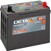 Автомобильный аккумулятор Deta Senator3 DA456 (45 А/ч) -