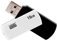 Usb flash накопитель Goodram UC02 16GB (черный/белый) (UCO2-0160KWR11) -
