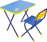 Стол+стул Ника КА1 Алина (голубой) -