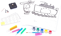 Набор для творчества Bradex Часы своими руками: Вертолет и Корабль DE 0166 -