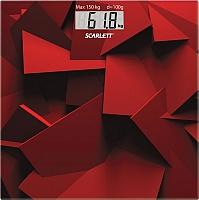 Напольные весы электронные Scarlett SC-BS33E086 (красный) -