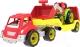 Набор игрушечных автомобилей ТехноК Автовоз с трактором 3916 -