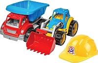 Набор игрушечных автомобилей ТехноК Малыш-строитель 3954 -
