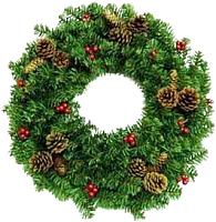 Венок Merry Bear Рождественский (D60, с шишками) -