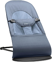 Детский шезлонг BabyBjorn Balance Soft Cotton Fog Blue 0050.74 -