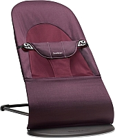 Детский шезлонг BabyBjorn Balance Soft Cotton Plum Red 0050.77 -