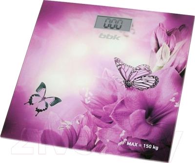 Напольные весы электронные BBK BCS3000G (фиолетовый)