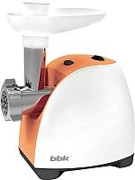 Мясорубка электрическая BBK MG1601 (белый/оранжевый) -