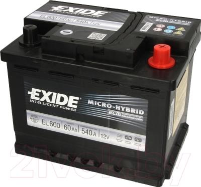 Автомобильный аккумулятор Exide ECM EL600 (60 А/ч)