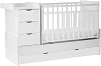 Детская кровать-трансформер СКВ Жираф 540031 (белый) -