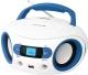 Магнитола BBK BS15BT (белый/голубой) -