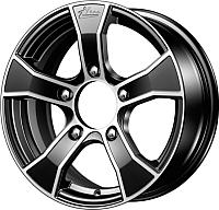 Литой диск iFree Лайт-круз (KC675) 15x6 5x139.7мм DIA 98мм ET 40мм (черный с полировкой) -