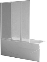 Стеклянная шторка для ванны Roltechnik PH3 140 (сатин/прозрачное стекло) -