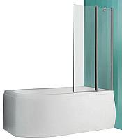 Стеклянная шторка для ванны Roltechnik TV2 (хром/прозрачное стекло) -
