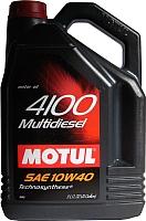 Моторное масло Motul 4100 Multidiesel 10W40 / 100261 (5л) -