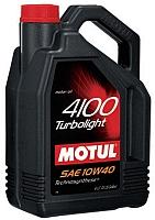 Моторное масло Motul 4100 Turbolight 10W40 / 100357 (5л) -