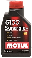 Моторное масло Motul 6100 Synergie + 5W30 / 106521 (1л) -