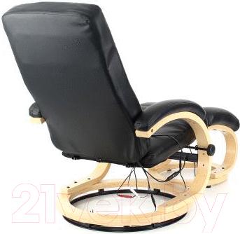 Массажное кресло Calviano Lucaro Recliner с пуфом (черный)