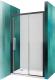 Душевое ограждение Roltechnik Exclusive Line ECD2P/120 (черный/прозрачное стекло) -