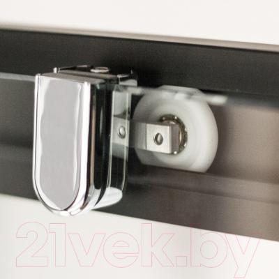 Душевое ограждение Roltechnik Exclusive Line ECD2P/150 (черный/прозрачное стекло)