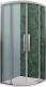 Душевой уголок Roltechnik Exclusive Line ECR2N/100 R55 (черный/прозрачное стекло) -