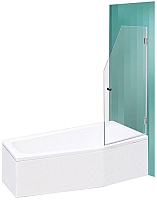 Стеклянная шторка для ванны Roltechnik SaniPro Screen Mini 65 (хром/прозрачное стекло) -