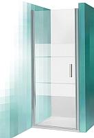 Душевая дверь Roltechnik Tower Line TCN1/80 (сатин/прозрачное стекло) -